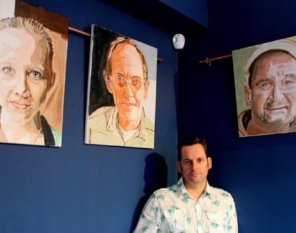 PTSD sufferer exhibits paintings after only months as an artist