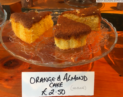 Say hello to our flourless orange & almond cake